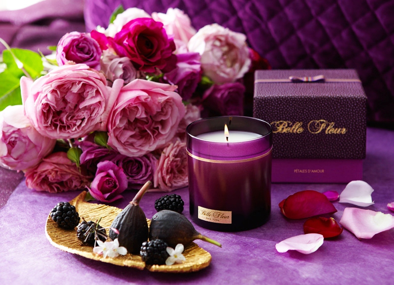 Parfums Belle Fleur Sa Majeste La Rose Candle Collection The