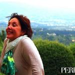 Editor-in-Chief Raphaella Barkley in Fiesole, high above the city of Florence.